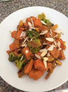 curried sweet potatoes